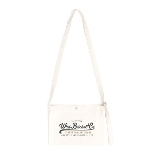 와일드 브릭스 WILD BRICKS - COTTON MINI CROSS BAG (ivory)