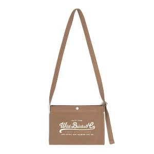 와일드 브릭스 WILD BRICKS - COTTON MINI CROSS BAG (beige)