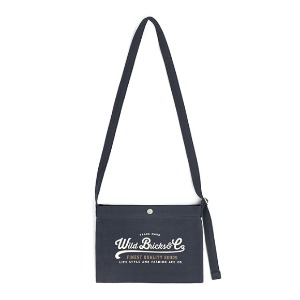 와일드 브릭스 WILD BRICKS - COTTON MINI CROSS BAG (navy)