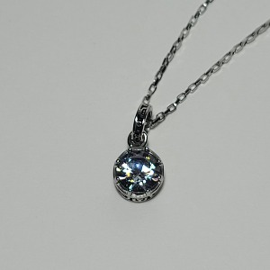 그린컨테이너 - ROUND STONE CRYSTAL NECKLACE