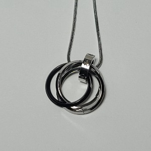 그린컨테이너 - TRIPLE RING NECKLACE