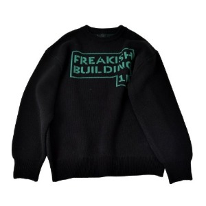 프리키쉬빌딩 FREAKISH BUILDING - STEN SWEATER (BLACK)