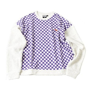 프리키쉬빌딩 FREAKISH BUILDING BOING CHECKERBOARD SWEATER (VIOLET)