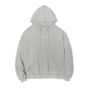 벌스원 VERSEONE - OVERSIZED BASIC LOGO HOODIE LIGHT GREY