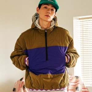 프리키쉬빌딩 - CHEST QUILTING ANORAC JACKET (KHAKI)