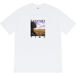 (국내배송) 슈프림 20SS Supreme 20SS Time Tee White